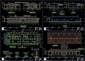 Hồ sơ thiết kế nhà Văn phòng làm việc 1 tầng mẫu 007 full kiến trúc