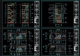 Hồ sơ thiết kế sơ bộ nhà phố 3 tầng diện tích 5x14,7m 110