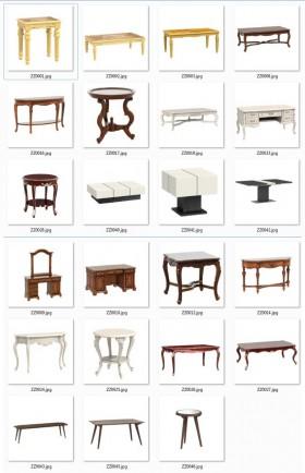 Tổng hợp thư viện 23 Model 3dsmax Tân cổ điển về bàn ghế, tủ, kệ