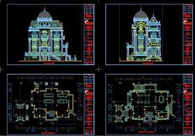 Hồ sơ thiết kế Biệt thự lâu đài 4 Tầng Tân cổ điển diện tích 15,6x23,7m - 0107