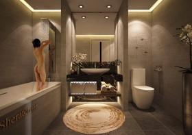 Sence Phòng tắm WC 07 - Thiết kế nội thất phòng tắm + Wc file 3dsmax