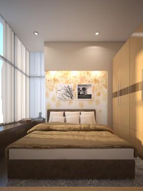 Phối cảnh phòng ngủ phong cách Hiện đại đẹp full file Max 00075