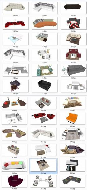 Thư viện Sketchup - Tổng hợp 50 Model Ghế Sofa các loại chất lượng cao 004