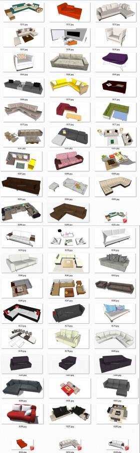 Thư viện Sketchup - Tổng hợp 50 Model Ghế Sofa các loại chất lượng cao 005