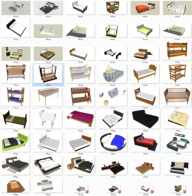 Thư viện Sketchup - Tổng hợp 50 Model Giường các loại chất lượng cao 001