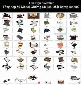 Thư viện Sketchup - Tổng hợp 50 Model Giường các loại chất lượng cao 002