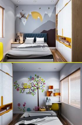 Sence Phòng Ngủ trẻ con 00018 - Thiết kế nội thất phòng ngủ con phong cách hiện đại