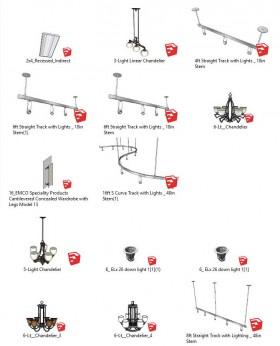 Thư viện Sketchup tổng hợp 14 Model về các loại Đèn P3