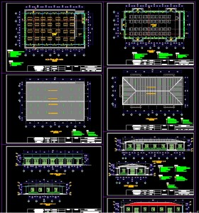 Hồ sơ thiết kế Nhà ăn và hội trường khu công nghiệp full kiến trúc