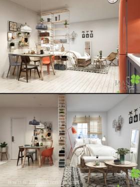 Phối cảnh nội thất 3D Max Phòng khách, Bếp ăn hiện đại đẹp 00085