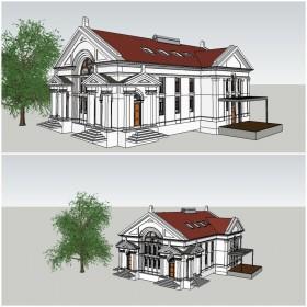 Phối cảnh 3d file Sketchup Nhà vườn 1 tầng 00037