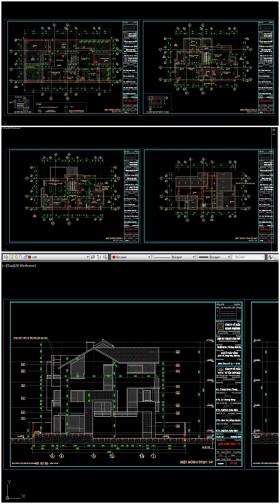 Hồ sơ thiết kế Biệt thự 3 Tầng trên khu đất 10x20m - 0112 Full cad