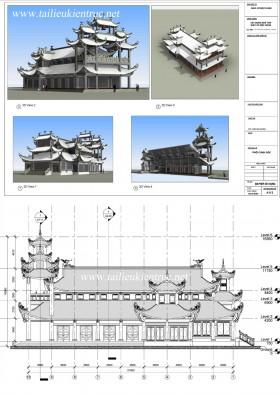 Hồ sơ thiết kế nhà thờ giáo xứ diện tích 17x31m full file Revit
