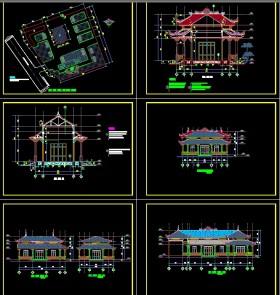 Hồ sơ Bản vẽ autocad thiết kế sơ bộ Chùa bảo sơn