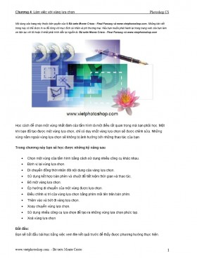 Giáo trình Photoshop - Chương 4: Làm việc với vùng lựa chọn