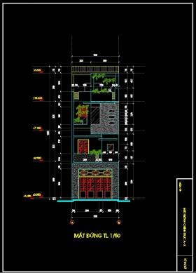 Hồ sơ thiết kế thi công Nhà Phố 3 tầng kích thước sử dụng 5x19,8m 122 full kiến trúc, kết cấu