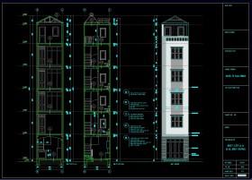 Hồ sơ thiết kế nhà phố 5 tầng diện tích 25m2 đầy đủ bản vẽ kiến trúc, kết cấu, điện nước 124