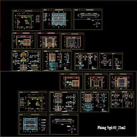 Hồ sơ thiết kế thi công nội thất Biệt thự 3 tầng 10x13,7m -  mẫu 009 Full