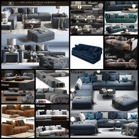 Thư viện Tổng hợp 10 File 3D model Sofa cực đẹp P10