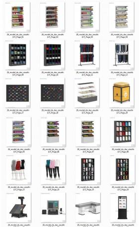 Thư viện 3d tổng hợp 26 Model về các thiết bị đồ Gia dụng dùng trong Siêu thị P3