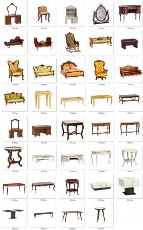 Thư viện 3D tân cổ điển tổng hợp 39 Model 3dsmax về Sofa, bàn phấn, kệ trang trí chất lượng cao