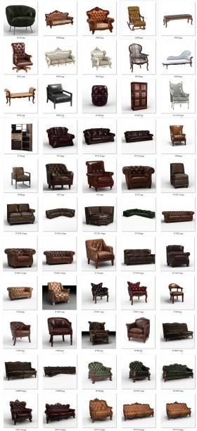 Thư viện 3D tân cổ điển tổng hợp 55 Model 3dsmax về Ghế và Sofa cực đẹp chất lượng