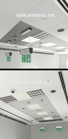 Thư viện 3d model tổng hợp các thiết bị trên Trần Văn Phòng P2