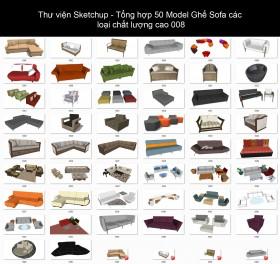 Thư viện Sketchup - Tổng hợp 50 Model Ghế Sofa các loại chất lượng cao 008