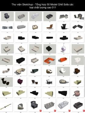 Thư viện Sketchup - Tổng hợp 50 Model Ghế Sofa các loại chất lượng cao 011