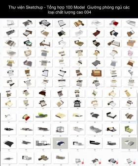 Thư viện Sketchup - Tổng hợp 100 Model Giường phòng ngủ các loại chất lượng cao 004