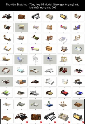 Thư viện Sketchup - Tổng hợp 55 Model Giường phòng ngủ các loại chất lượng cao 005
