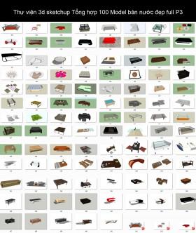 Thư viện 3d sketchup Tổng hợp 100 Model bàn nước đẹp full P3