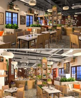 Thư viện 3dsmax Phối cảnh nội thất quán Coffe 15