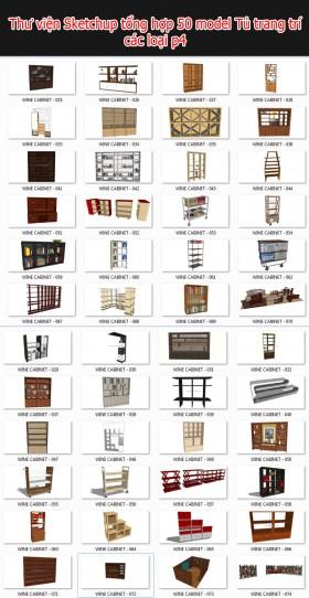 Thư viện 3d sketchup Tổng hợp 50 Model về tủ trang trí các loại P4