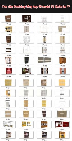 Thư viện 3d sketchup Tổng hợp 50 Model về Tủ Quần áo P7