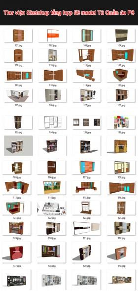 Thư viện 3d sketchup Tổng hợp 50 Model về Tủ Quần áo P8