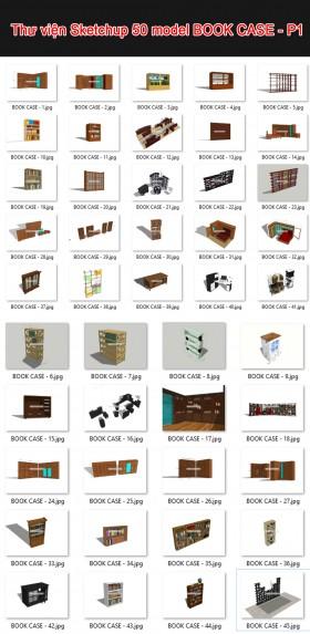 Thư viện 3d sketchup Tổng hợp 50 Model BOOK CASE - P1