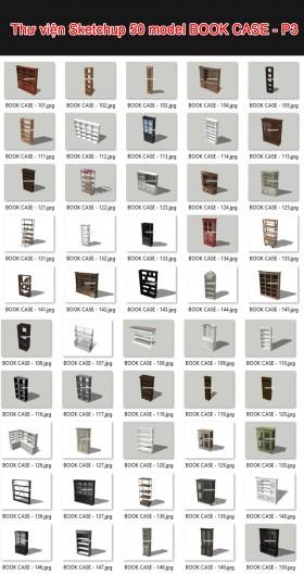 Thư viện 3d sketchup Tổng hợp 50 Model BOOK CASE - P3
