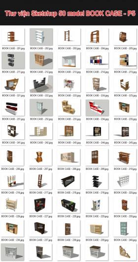 Thư viện 3d sketchup Tổng hợp 50 Model BOOK CASE - P5