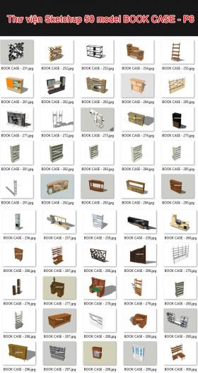Thư viện 3d sketchup Tổng hợp 50 Model BOOK CASE - P6