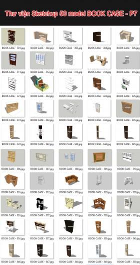 Thư viện 3d sketchup Tổng hợp 50 Model BOOK CASE - P7