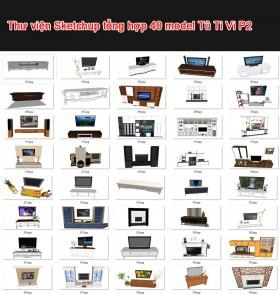 Thư viện 3d sketchup Tổng hợp 40 Model TV Cabinet P2