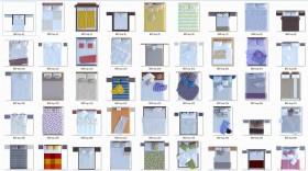Thư viện mặt bằng Photoshop tổng hợp về Các loại Giường ngủ 009 download
