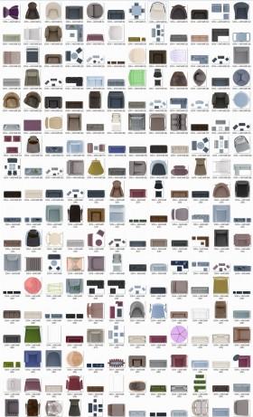 Thư viện mặt bằng Photoshop tổng hợp về Các loại Ghế và Sofa 010 download