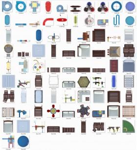 Thư viện mặt bằng Photoshop tổng hợp về Các loại Bàn Ghế và thiết bị Hồ bơi Resort 011 download