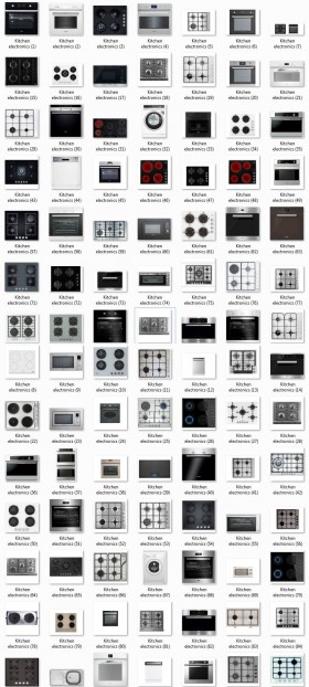 Thư viện mặt bằng Photoshop tổng hợp về Các loại Bếp và thiết bị bếp 012 download