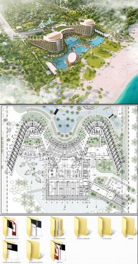 Hồ sơ thiết kế Công Trình Resot Amiana Cam Ranh đầy đủ File Cad Kiến Trúc và kết cấu