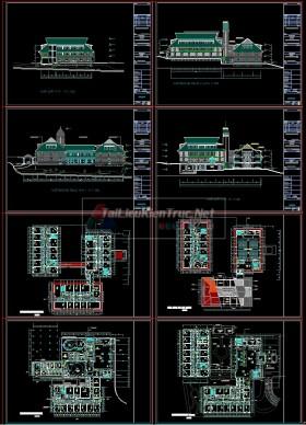 File Cad Kiến Trúc Công Trình Khách sạn Blue Moon Phan Bội Châu Đà lạt Mẫu 010