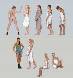Thư viện sketchup về Người 3D sexy full 032