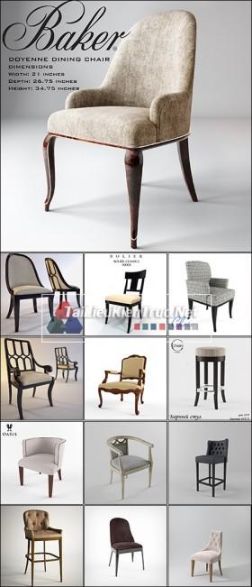 Thư viện 3dsmax tổng hợp Model Ghế tân cổ điển Classic Chair các loại 00033